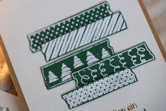 Handgemachte Weihnachtskarte Framed Scrapbook Paper, Holiday Cards, Holiday Decor, Paper Frames, Kraft Paper, Handmade Christmas, Cardmaking, Christmas Holidays, Birthday Cards