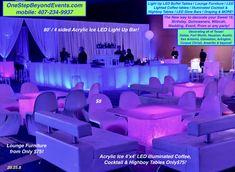 Uv Black Light, Black Lights, Light Up, Glow Table, Light Table, Led Furniture, Lounge Furniture, 60 Birthday, One Step Beyond