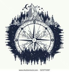 Image result for salix tree compass tattoo