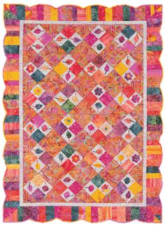 September quilt from Quilt Batik! The border and binding - remarkable.  I would love to make that!