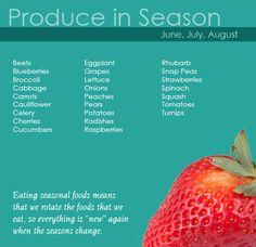 Summer produce in Western New York