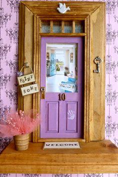 Fairy Door  Light Purple Door  Beachside Cottage by apeekinside, $38.00