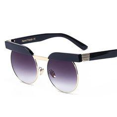 Peekaboo 2018 fashion sunglasses brand woman clear retro vintage round mirrored sunglasses eyewear female party zonnebrillen
