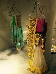 Looking for yellow lehenga saree? Browse of latest bridal photos, lehenga & jewelry designs, decor ideas, etc. on WedMeGood Gallery. Indian Wedding Outfits, Bridal Outfits, Indian Outfits, Bridal Dresses, Indian Clothes, Lehenga Saree, Sarees, Bridal Lehngas, Semi Formal Wedding
