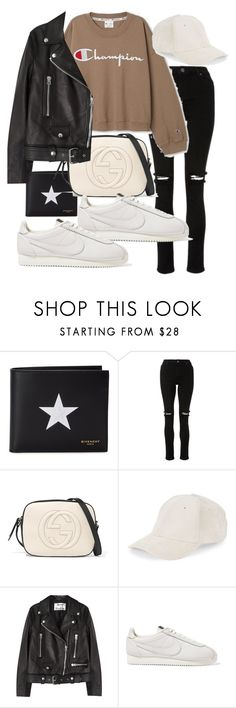 """Untitled #23214"" by florencia95 ❤ liked on Polyvore featuring Givenchy, Gucci, BCBGeneration, Acne Studios and NIKE"