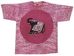 Odishabazaar Unisex Cotton Elephant Batik T-shirt Tees XL Pink Odishabazaar http://www.amazon.com/dp/B01AO6NM90/ref=cm_sw_r_pi_dp_Q9XUwb0HZAK7D