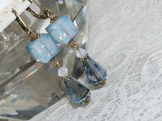 Retro Jewelry  Blue Opal Dangle Earring  by judysmithdesigns, $19.95