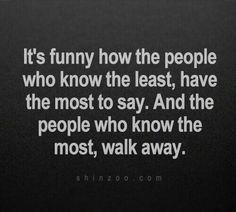 walk away..