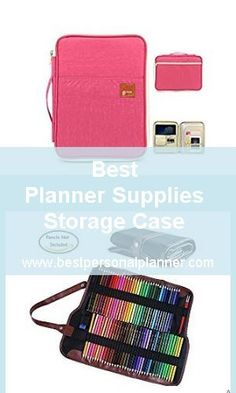 Best Planner Supplies Storage Case find the one to carry with you everything you need for bullet journalism Bullet Journal Diy, Bullet Journal Inspiration, Bujo, Cool Pencil Cases, Pen Storage, Pen Collection, Small Notebook, Best Planners, Planner Supplies