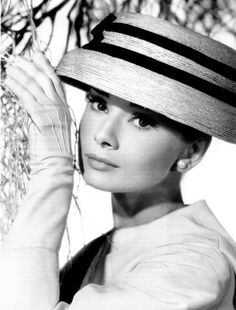 Bud Fraker photographed Audrey Hepburn in a Givenchy costume in a publicity still for Funny Face, 1956