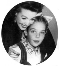 Loretta Young and her daughter fathered by Clark Gable