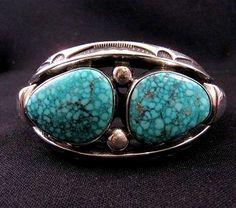 Orville Tsinnie Navajo Heavy Silver Kingman Turquoise Bracelet | eBay