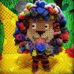 Cowardly Lion doll - The Wizard of Oz hama beads by riguccimonamour