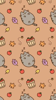 pusheen wallpaper pusheen cat pinterest wallpaper cute