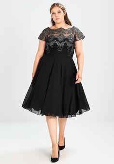 Vêtements Chi Chi London Curvy TINA - Robe de soirée - black/gunmetal noir: 74,95 € chez Zalando (au 07/10/17). Livraison et retours gratuits et service client gratuit au 0800 915 207.