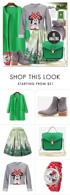 """""""Shein 10"""" by e-mina-87 ❤ liked on Polyvore featuring WithChic, Miss Selfridge and Disney"""