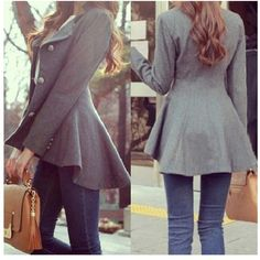 Peplum fall jacket - flawless fashion