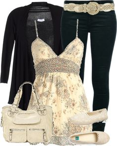 "Love the clothing outfit, especially the top! So pretty! ""Untitled #200"" by alqoronzahlaam on Polyvore"