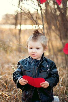 Valentine's, tree, hearts, boy