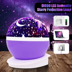 Star Projector Lamp, Solmore 360 Degree Star Night Light Romantic Room Rotating Cosmos Star Projuctor With USB Cable, Light Lamp Starry Moon Sky Night Star Night Light, Baby Night Light, Friday Night Lights, Stars At Night, Sky Night, Cute Night Lights, Star Sky, Bedroom Lamps, Room Ideas Bedroom