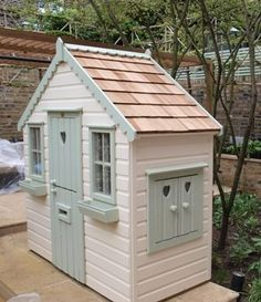 swing and play house - Google Search Playhouse Outdoor, Wooden Playhouse, Indoor Paint, Wendy House, Outdoor Games For Kids, Miniature Houses, Chickens Backyard, Garden Fun, Garden Ideas