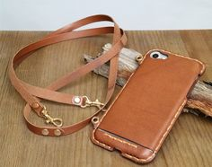 Leather iPhone 7 plus case with lanyard & eyelet crossbody strap Genuine Leather adjustment strap iP Leather Phone Case, Leather Wallet, Crossbody Phone Purse, Smartphone Covers, Thing 1, Iphone 7 Plus Cases, Iphone 6, Cow Leather, Purses