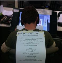 Do not disturb. :)