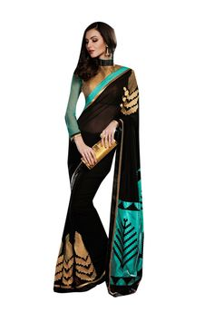 Description:- Black and Sky Blue Color Georgette fabric Saree with Golden and Sky Blue Color Beautiful Zari worked Shimmer & Georgette fabric Blouse. This Saree is covered with Golden Color Amazing Zari work on Shoulder line & Lower part with Black & Copper color lace border work with two side pipping. The Blouse can be Stitched upto size 44. Rate:- 2975/- For bookings:- Ring or Whatsapp on +919870725209 Shipping in India:- Free Cash on Delivery:- Available in India Worldwide Shipping…