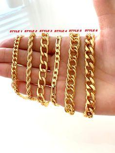 Mens Gold Bracelets, Ankle Bracelets, Link Bracelets, Gold Chain Choker, Gold Chains For Men, Anklets, Rope Chain, Adjustable Bracelet, Gold Pendant