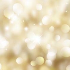 fond d'or de Noël avec des lumières bokeh et étoiles Photo gratuit