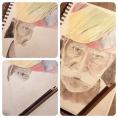 #old man #colour #pencil