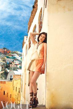 Vogue Mexico production, July 2013 | Missoni suede dress, MaxMara heels