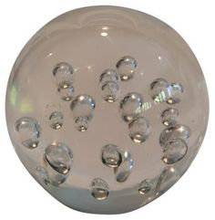 Glass Paperweight w/ Bubbles | Artsy Pad | One Kings Lane