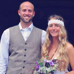 Bridal boho headband, Oh Dina, Scottish meets country vintage boho, barn wedding Boho Headband, Themed Weddings, Vintage Country, Muse, Feather, Barn, Bridal, Purple, Beauty
