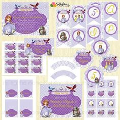 Sofia the First birthday on Etsy.