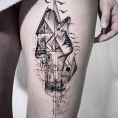 .John Monteiro. (@_johnmonteiro) • Instagram photos and videos Tattoos, Fine Line Tattoos, Body Tattoos, Pheonix Tattoo, New York Tattoo, Line Work Tattoo, Geometric Tattoo, Half Sleeve Tattoos Drawings, Tattoo Designs