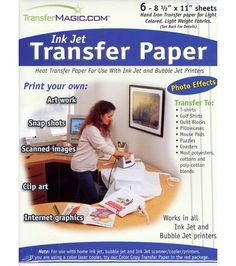 "Photo Effects Ink Jet Transfer Paper-8-1/2""x11"" 6/Pkg"