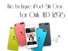 The iPod deal you've been waiting for here at NailtheDeal! Get the iPod Touch 5th Generation for the best price of AED 1295! This Apple a day will surely keep your boredom away! Limited Stocks only!