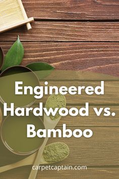 """Engineered hardwood and bamboo are both what I refer to as """"hardwood variants."""" Basically, they are both hardwoods with slightly different performance characteristics. But which would work out best in your home? Depending on your tastes, we think you'll find a clear winner. Check out how engineered hardwood and bamboo compare in 8 categories: Strand Bamboo Flooring, Solid Wood Flooring, Engineered Hardwood Flooring, Flooring Options, Hardwood Floors, The Slight Edge, Bamboo Care, Caramel Color, Types Of Wood"""