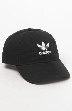 adidas Original Black Strapback Dad Hat at PacSun.com 6ccc598eed