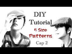 鴨舌帽的製作----cap2 - YouTube