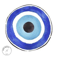 "Good objects - ""Nazar"" eye-shaped amulet believed to protect against the evil eye. As a legacy of the turkish ottoman empire, this amulet can be seen on Turkey, Greece and many other countries. #goodobjects #illustration"