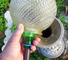 OH, like it! Garden Junk Ideas | home made solar gazing ball - Garden Junk Forum - GardenWeb