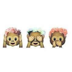 emoji aapje flower - Google zoeken