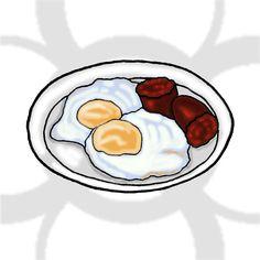 huevos fritos con chorizo [ES] #huevosfritos con #chorizo [EN] #friedeggs with chorizo.