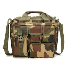 Color    Black,Green,Khaki      Material    Nylon      Weight    Approx 1200g      Length    36cm(14.17'')      Width    25cm(9.84'')      Height    23cm(9.06'')      Closure Type    Zipper       Package Included: 1 * Bag