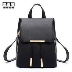 PU Leather Women Backpacks Casual Solid Fashion School Teenage Girls Sequined Vintage Candy Color Backpack Female Travel Bags #Affiliate