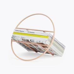 Umbra Shift Hoop Magazine Rack in Pink   $58