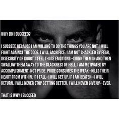 Why Do I Succeed?