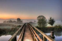 Sunrise at Eye Bridge, Wimborne, Dorset